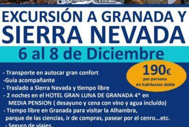 Excursión a Granada y Sierra Nevada 6 al 8 diciembre