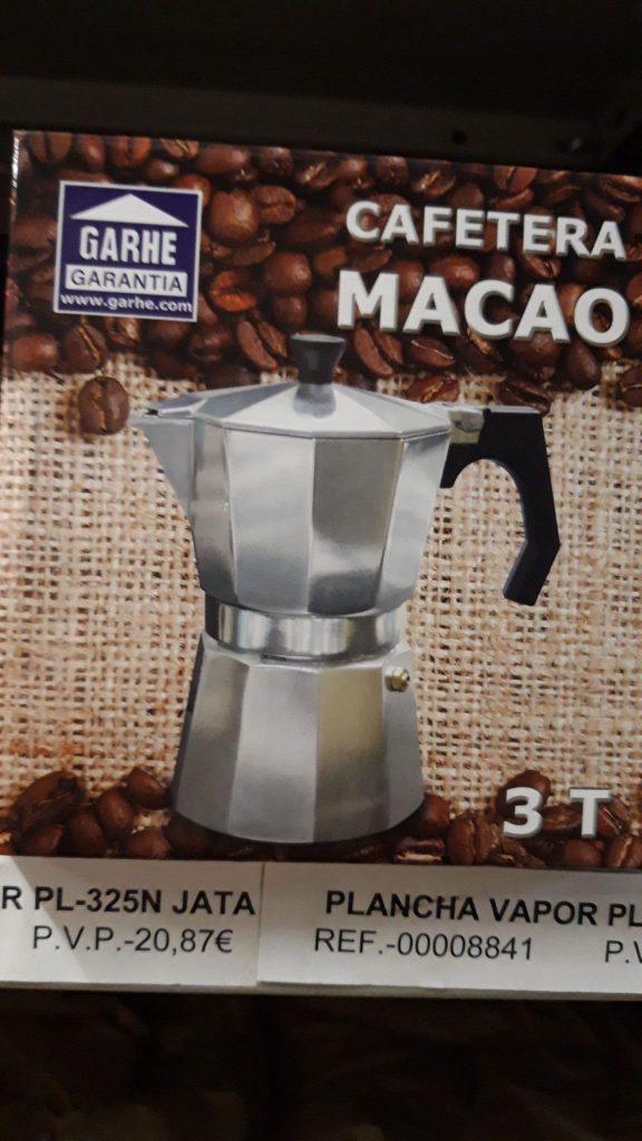 Cafetera Macao 3 tazas