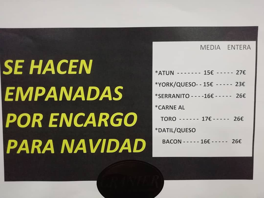 EMPANADAS POR ENCARGO GRANIER PANES ARTESANOS