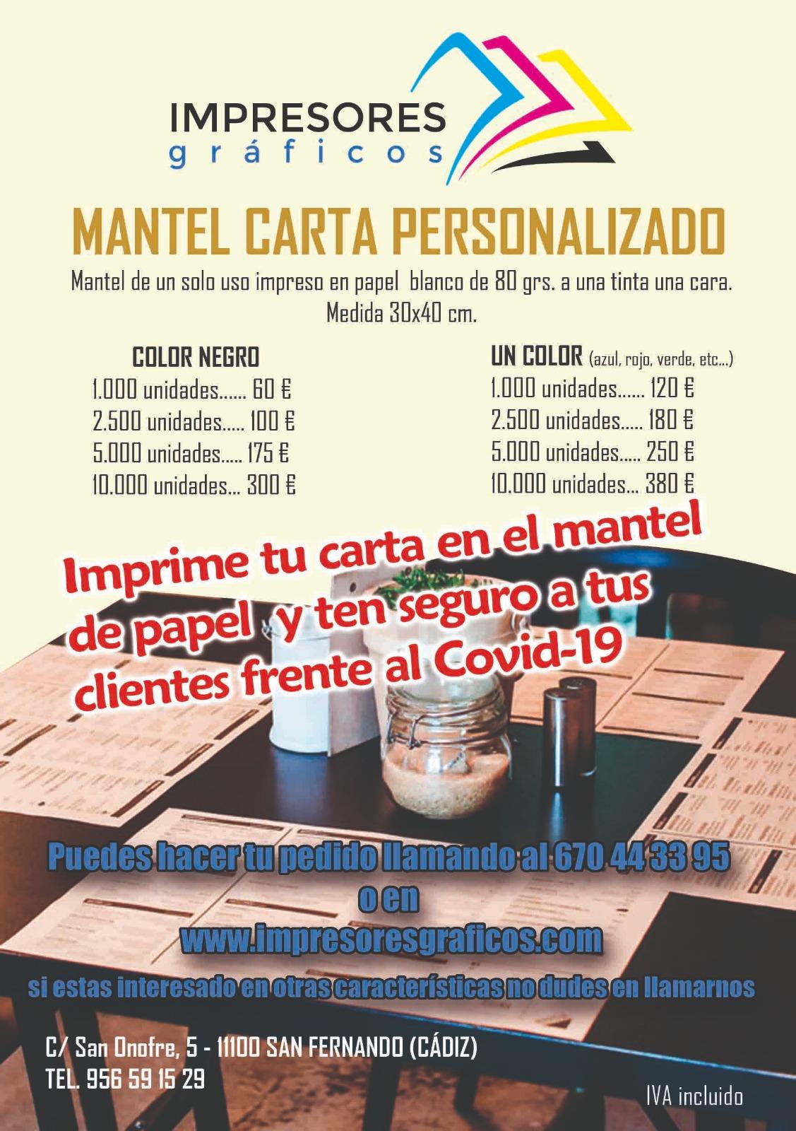 MANTEL CARTA PERSONALIZADO